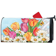 MailWraps Fresh Tulips Magnetic Mailbox Cover