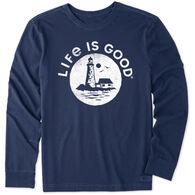 Life is Good Men's Lighthouse Sea Crusher-Lite Long-Sleeve T-Shirt