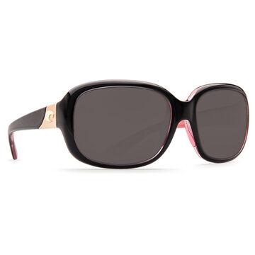 Costa Del Mar Womens Gannet Plastic Lens Polarized Sunglasses