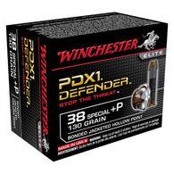 Winchester PDX1 Defender 38 Special +P 130 Grain Bonded JHP Handgun Ammo (20)