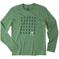 Life is Good Men's Adirondack Evergreens Crusher Long-Sleeve T-Shirt