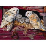 Outset Media Jigsaw Puzzle - Barn Owls