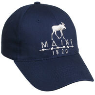Polar Graphics Men's Ace 1820 Maine Moose Cap