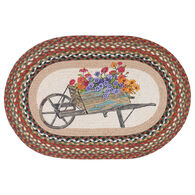 Capitol Earth Wheelbarrow Oval Patch Rug