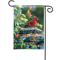 BreezeArt Cardinal Perch Decorative Garden Flag