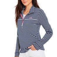 Vineyard Vines Women's Striped Sankaty Shep Half-Zip Pullover