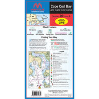 Maptech Folding Waterproof Chart - Cape Cod Bay