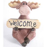 Slifka Sales Co Welcome Sign Moose Figurine