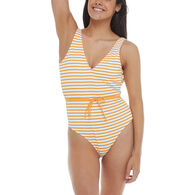 Body Glove Women's French Riviera Pam Belted One-Piece Swimsuit