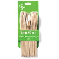 Bambu Veneerware Compostable Bamboo Knife, Fork & Spoon 24-Piece Set