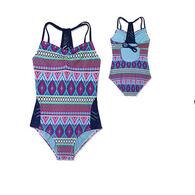 Gossip Girl Girls' Stripe Fusion Swimsuit