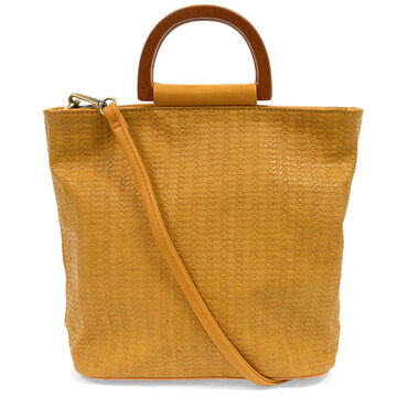 Joy Susan Womens Lily Wood Handle Tote Bag