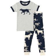 Lazy One Boys' & Girls' Lab Pajama Set