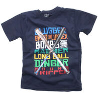 Wes And Willy Boy's Baseball Words Short-Sleeve T-Shirt