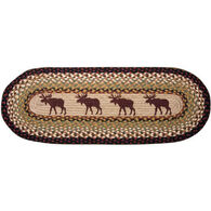Capitol Earth Moose Oval Patch Runner Braided Rug