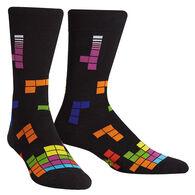 Sock It To Me Men's Tetris Action Shot Crew Sock