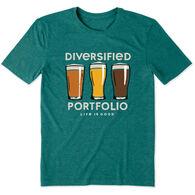 Life is Good Men's Diversified Portfolio Beer Cool Tee Short-Sleeve T-Shirt