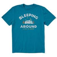 Life is Good Men's Sleeping Around Crusher-Lite Short-Sleeve T-Shirt