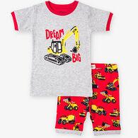 Hatley Boy's Heavy Duty Machines Short Pajama Set