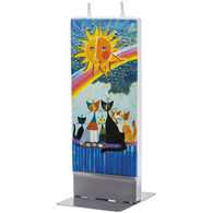Flatyz Candle - Cats Family Under The Rainbow