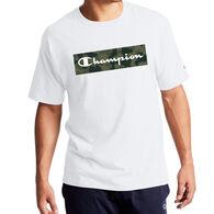 Champion Men's Classic Jersey Camo Script Logo Short-Sleeve T-Shirt