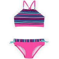 Noruk Girl's Stripe Bikini Two-Piece Swimsuit