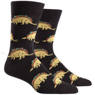 Sock It To Me Men's Tacosaurus Crew Sock