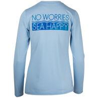 4ca9b9a87e26f8 Salt Life Women's No Worries Long-Sleeve T-Shirt