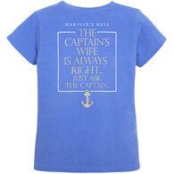 Artforms Women's Captain's Wife Mariner's Rule Short-Sleeve T-Shirt
