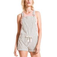 Z Supply Women's Pinstripe Short Overalls