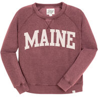 Lakeshirts Women's Blue 84 Maine Arch Crewneck Sweatshirt