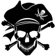 Sticker Cabana Pirate Skull Sticker