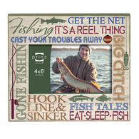 """Prinz More Than Words Fishing Picture Frame - 4"""" x 6"""""""