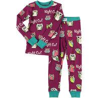 Lazy One Girls' Night Owl Pajama Set
