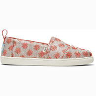 TOMS Girls' Glimmer Alpargata Shoe