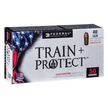 Federal Train + Protect 40 Smith & Wesson 180 Grain VHP Handgun Ammo (50)