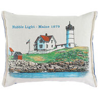 "Paine Products Balsam Fir 7"" x 5"" Nubble Lighthouse Pillow"