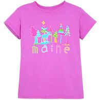 Lakeshirts Girls' Girly Pine Moose Short-Sleeve T-Shirt