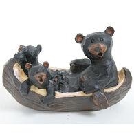 Slifka Sales Co Bears In Canoe Figurine