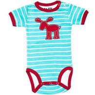 Lazy One Infant Boys' Stripe Moose Creeper