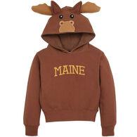 Wild Child Hoodies Youth Brown Moose Hooded Sweatshirt