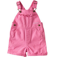 Carhartt Toddler Girls' Canvas Bib Shortall