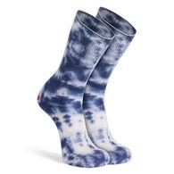 Fox River Mills Women's Tie Dye Rockford Red Heel Lightweight Crew Sock, 2/pr. (Crafting Sock)