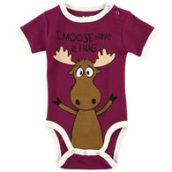 Lazy One Infant Girl's Moose Hug Creeper