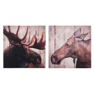 Kennedy's Country Collection Moose Couple Canvas Sign