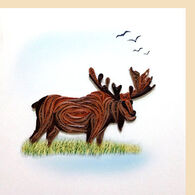 Quilling Card Moose Everyday Card