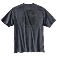 Carhartt Men's Big & Tall Workwear C Logo Graphic Pocket Short-Sleeve T-Shirt