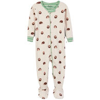 Hatley Infant/Toddler Girl's Huggable Hedgehogs Organic Cotton Footed Coverall