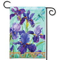 BreezeArt Purple Iris Garden Flag