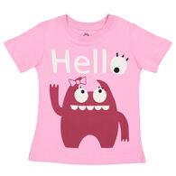 Doodle Pants Toddler Girls' Pink Monster Short-Sleeve T-Shirt
